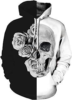 Chaos World Men`s Novelty Hoodie Realistic 3D Print Pullover Unisex Casual Sweatshirt