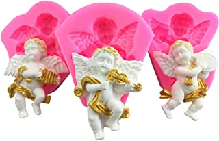 Molds Cupcake Decorative, 3 Pack Angel Silicone Fondant Molds for Ice, Chocolate, Candy, Sugar, Caramel, Jelly