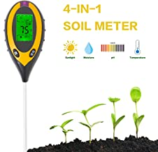 CDDG Soil pH Meter, Soil Moisture Meter, 4-in-1 Soil Temperature/Light/pH/Moisture Measuring Tool for Garden, Farm, Lawn, Indoor & Outdoor