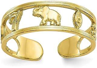 5mm 10K Suerte para dedo del pie anillo–mayor grado de oro que 9ct oro
