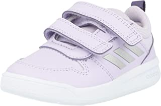 adidas Tensaur I Purple/Metallic Silver Leather Infant Trainers Shoes