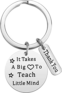 Teacher Gifts for Women - It Takes a Big Heart to Teach Little Minds Teacher Keychain, Christmas Valentine's Day Gifts for...