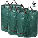 AIXMEET 3X 300L Sacchi da Giardinaggio Professional - Sacchi per rifiuti da Giardino - Polipropilene (PP) - Robusto, Antistrappo, Idrorepellente Riutilizzabile Borsa da Giardino