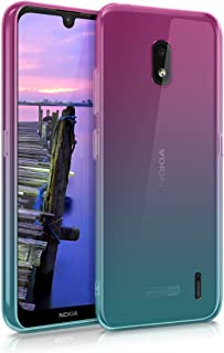 Sponsored Ad - kwmobile Case Compatible with Nokia 2.2 - Case Transparent Gradient Phone Cover - Bicolor Dark Pink/Blue/Tr...