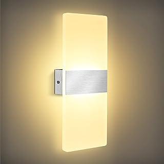 Applique Murale Intérieure LED, Lovebay 12W Lampe Murale Acrylique Blanc Chaud 3000K, Moderne Design Decoration Luminaire ...