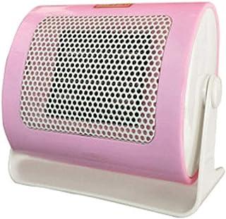 TDM Mini Calefactor, Calentador eléctrico silencioso de energía pequeña para el hogar, Calentador pequeño, silencioso, para Uso doméstico, de Oficina, 500W (Color : Pink)