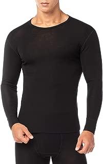LAPASA Men's 100% Merino Wool Thermal Underwear Top Crew Neck Base Layer Long Sleeve Undershirt M29