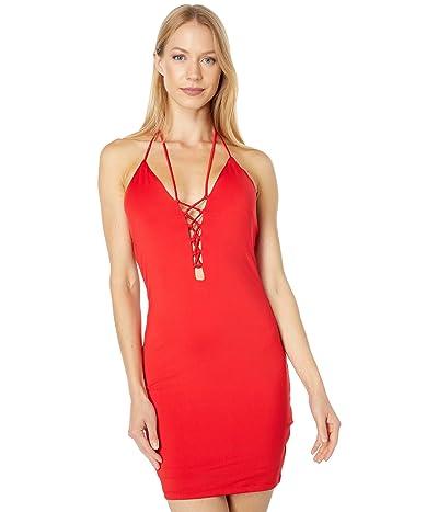 Bebe Double Strap Halter Knit Dress