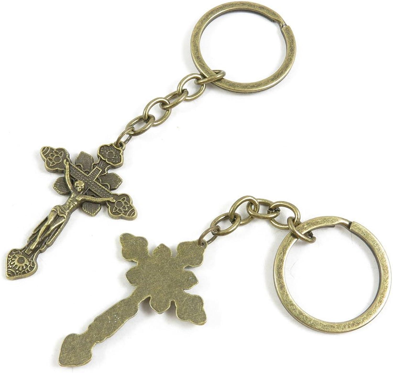 140 Pieces Fashion Jewelry Keyring Keychain Door Car Key Tag Ring Chain Supplier Supply Wholesale Bulk Lots R5KK6 Jesus Cross