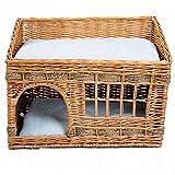 Cesta per gatti, in vimini intrecciato bellissima casetta per il vostro gatto dimensioni: L 56 x P 36 x H 42 cm