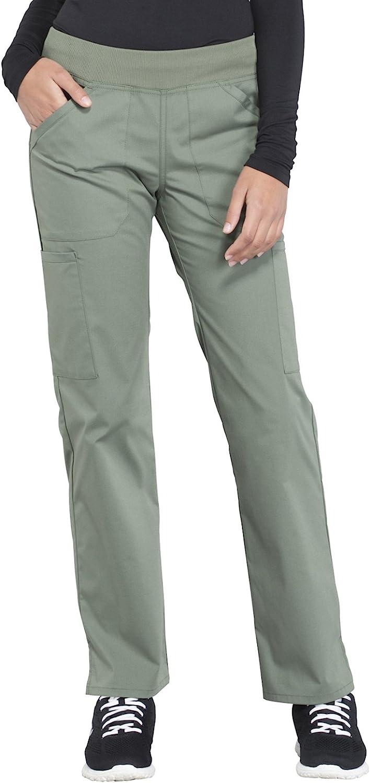 Cherokee Workwear Professionals Mid Rise Straight Leg Pullon Cargo Scrub Pant