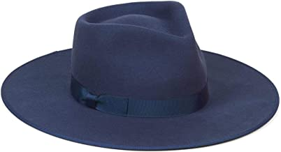 Lack of Color Women's Navy Rancher Wool Fedora Hat