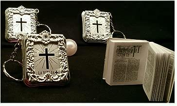 24 Baptism Mini Bibles Favors Keychain Party Communion Recuerdos De Bautizo