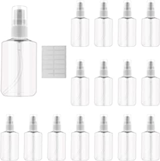 INNOLIFE Small Spray Bottles Oval Bottles Plastic Refillable Empty Travel BPA Free Container for Skin Cleanser(16-pack 60m...