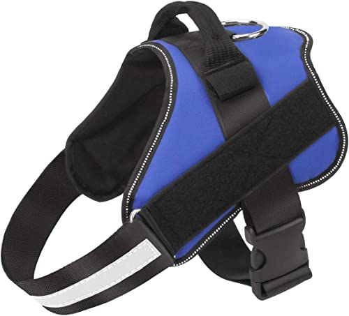Dog Harness No Pull Reflective Adjustable Pet Vest with Handle for Outdoor Walking- No More Pulling, Tugging or Choki...