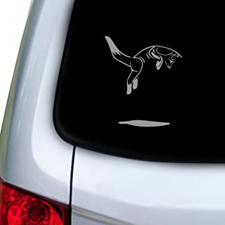 StickAny Car and Auto Decal Series Fox Jumping Sticker for Windows, Doors, Hoods (Silver)