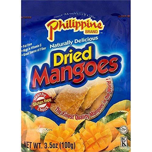 Philippine Brand Dried Mangoes, 3.5oz/100g (Single Pack)