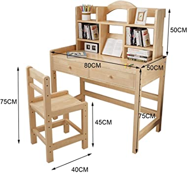 Floenr 31IN Children Student Desk with Chair Set   Height Adjustable Laptop Computer Desk with File Drawer   Home Office Desk