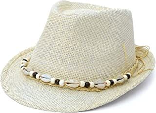 ZRL77y Panama Hats for Women Rollable,Ladies Summer Floppy Sun Hats, Fedora -Packable, Hand Woven Beach Hat (Color : Beige)