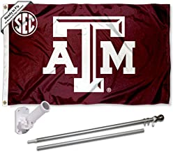 Texas A&M Aggies SEC Flag with Pole and Bracket Kit