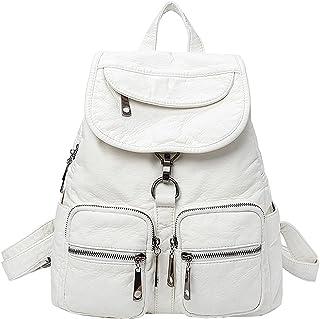 Tisdaini Damen Rucksackhandtaschen Lässige Schultasche wasserdicht Reise ausflugsrucksack Weiß