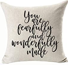 Double Side Cushion Covers You Are Fearfully and Wonderfully Made Pillow Covers for Couch Sofa Motivational Decoratives Throw Pillowcases Removable Color:You Are Fearfully and Wonderfully Mades