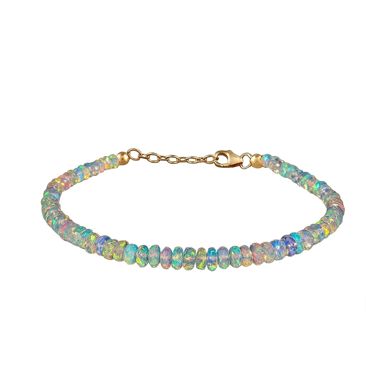 Natural Ethiopian Opal Beaded Bracelet In Max 77% OFF 14K plated favorite St 925 Gold