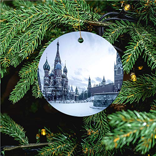aosup Saint Basil's Cathedral/Christmas Ornaments 2020 Christmas Ceramic Pendant Personalized Creative Christmas Decorations Double Sided Christmas Tree Ornament №SW167134