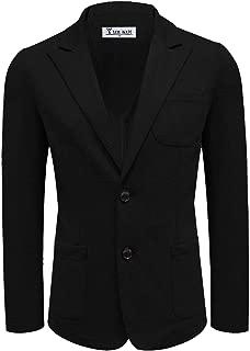 Men's Casual Two Button Peak Lapel Single Breasted Blazer