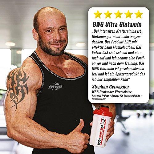 BWG Ultra Glutamine, L-Glutamin Pulver, Muscle Line, 1er Pack (1 x 1000g Beutel) - 5