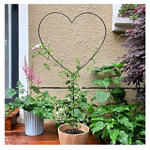 YCZM Herzförmiger Blumenständer, Klettergerüst, geeignet für Clematis, Rosen und andere Kletterpflanzen (Bronze, 2 Packungen)