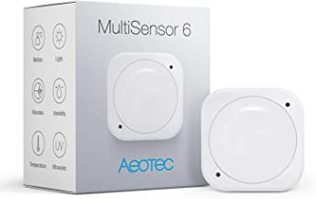 Aeotec Multisensor 6، Z-Wave Plus 6 in1 motion، دما، رطوبت، نور، UV، سنسور ارتعاش