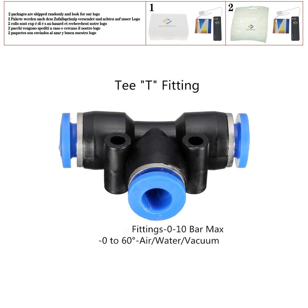 T//Y//L//Straight Type Pneumatic Push in Fittings for Air//Water Hose and Tube Connector 4mm 6mm 8mm 10mm 12mm 14mm 16mm,Straight Type,14mm