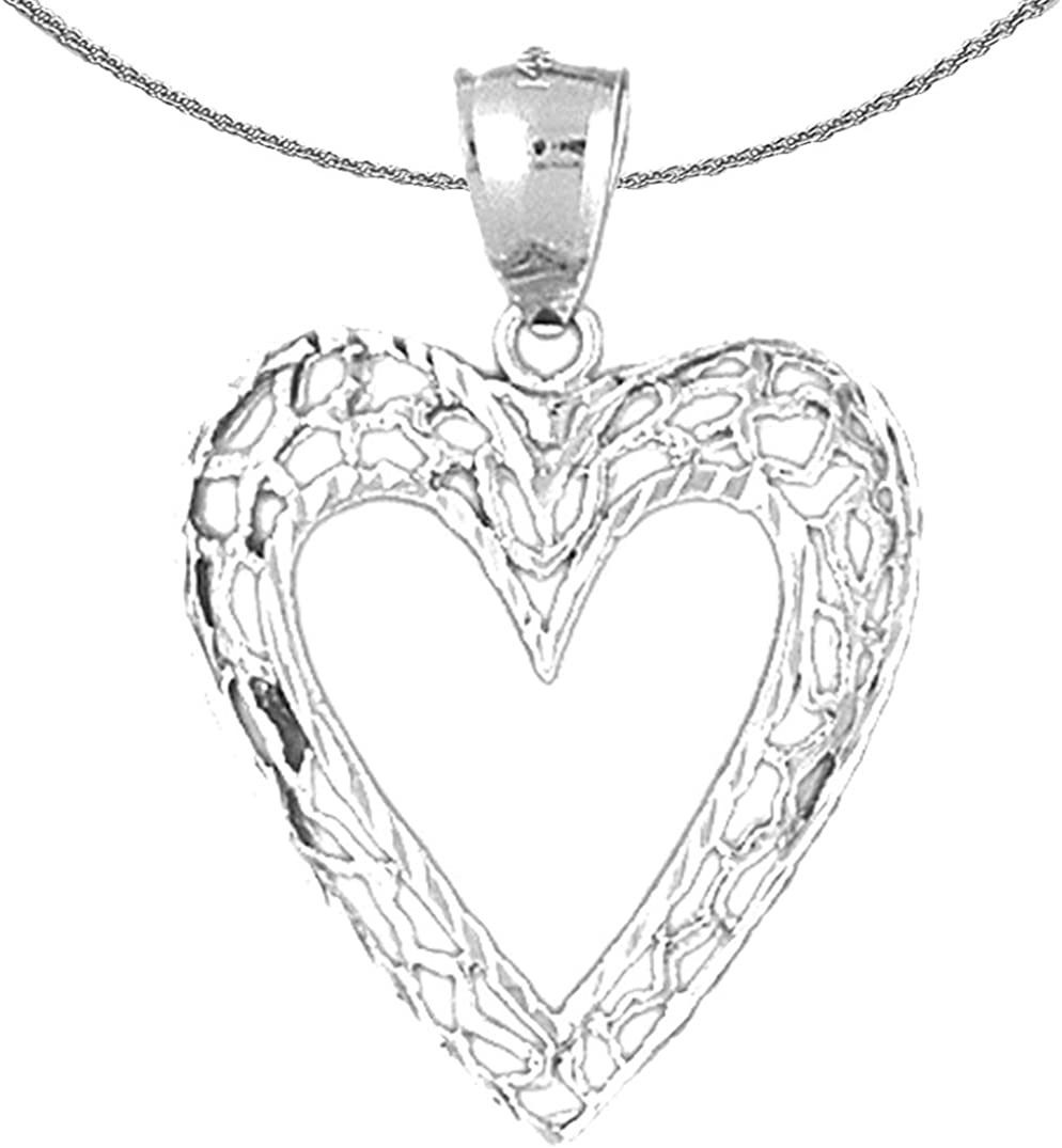 Jewels Ranking TOP19 Obsession Gold Heart Necklace 14K Pend White trust