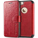 VRS Design [Wine Red] Premium Leather Folio Case Flip Wallet Cover [Layered...