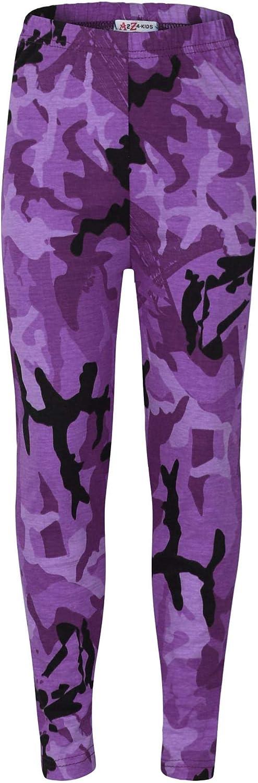 Kids Girls Legging Designer's Camouflage Print Trendy Fashion Leggings 5-13 Year