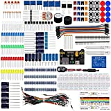 WeDai DIY Basic Starter Kit Breadboard Jumper Wires Components Resistor Buzzer Electronics Components Kit Capacitor