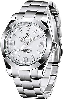 BENYAR orologio da polso da uomo in stile Milgauss, automatico con lancetta lampo, bracciale in acciaio inossidabile, impe...