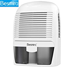 Besmira Portable Mini Dehumidifier 2200 Cubic Feet Electric Safe Dehumidifier for Bedroom, Home, Crawl Space, Bathroom, RV, Baby Room,