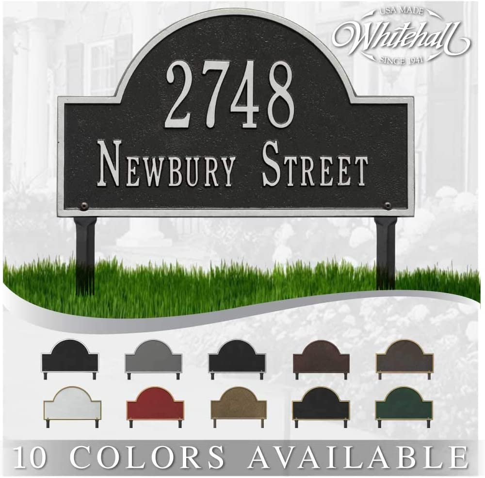 Personalized Cast Metal Address Free shipping New plaque - Arch Low price Lawn Plaqu Mounted