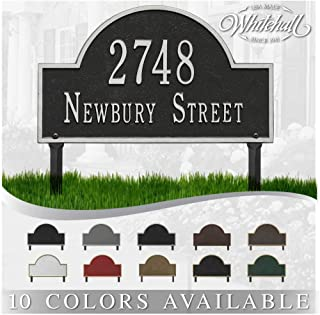 Best Personalized Cast Metal Address plaque - Lawn Mounted Arch Plaque. Display Your Address and Street Name. Custom House Number Sign. Review