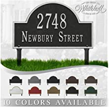 Personalized Cast Metal Address plaque - Lawn Mounted Arch Plaque. Display Your Address and Street Name. Custom House Numb...