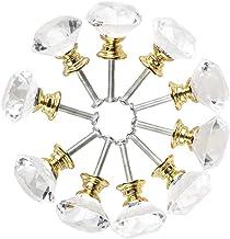 Sonline Diamant vorm kristal glas 30mm keuken kast deur lade handvat kast kast kast handvat met schroeven 10 stuks deurgre...