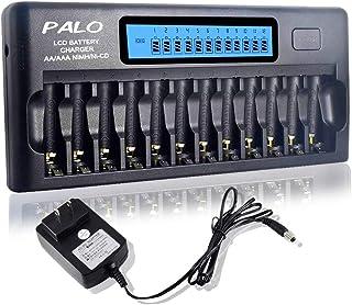 Carregador de bateria de 12 baias para baterias AA AAA Ni-MH / Ni-CD com função de atualização Carregador de bateria domés...