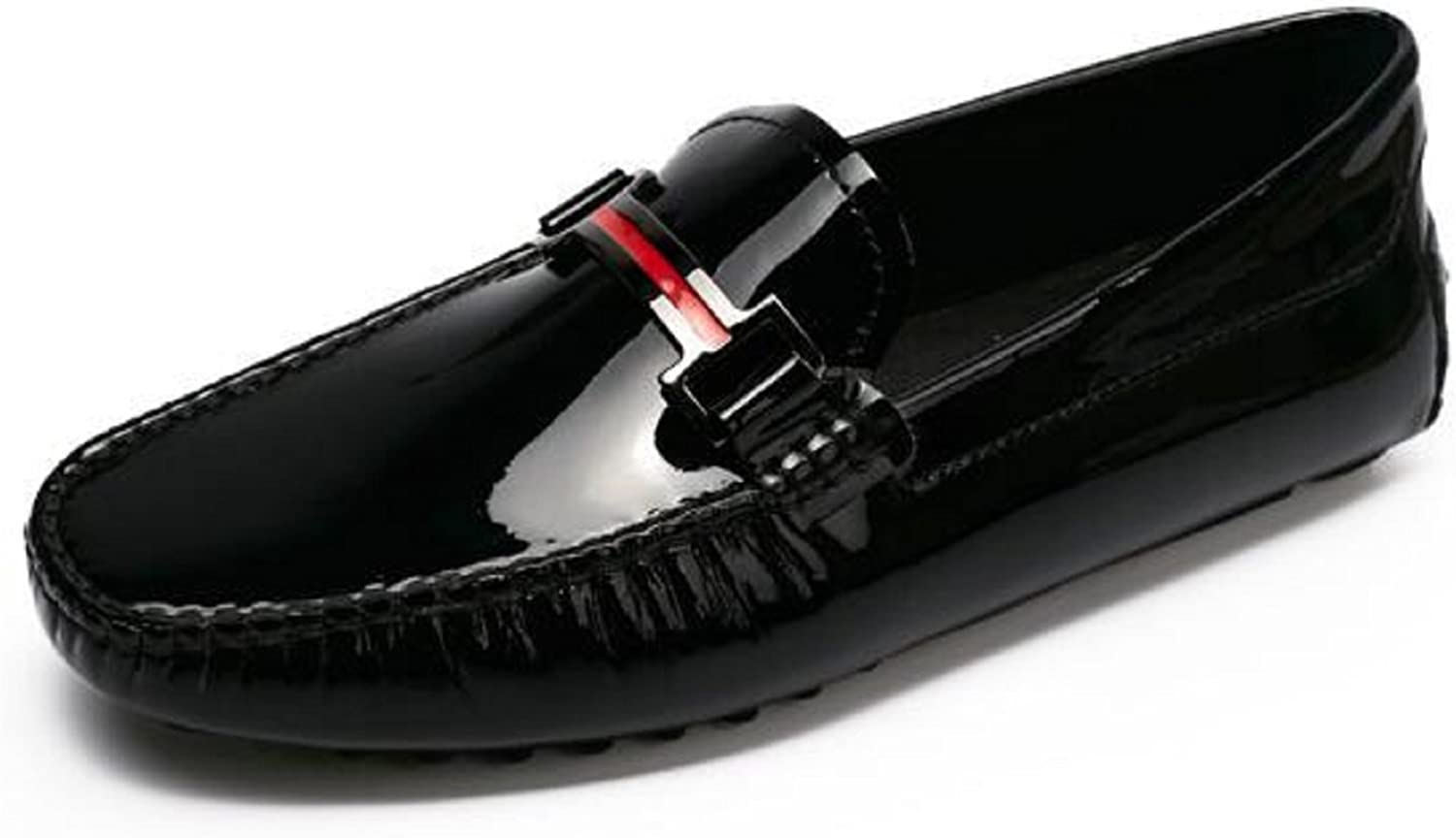HAPPYSHOP TM Men's Patent Leather Fashion Moccasins Comfort Driving shoes for Any Occasion