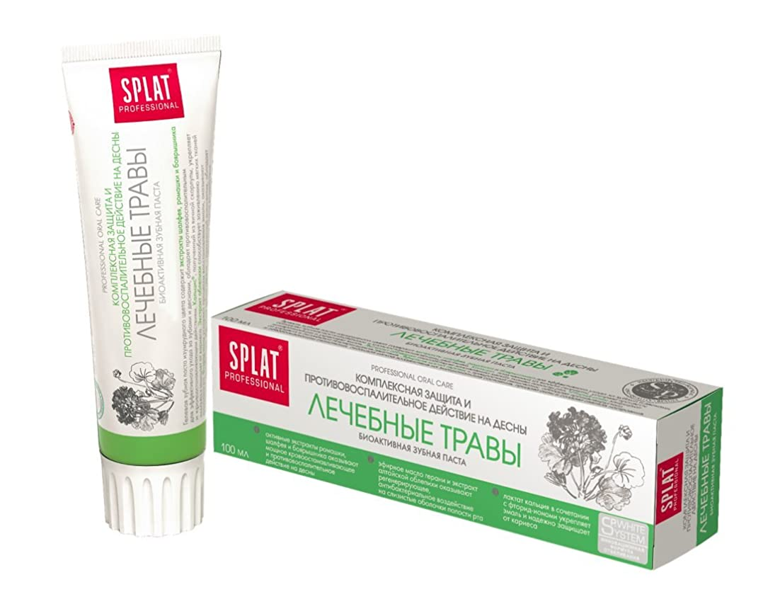 ステップ溶けるやるToothpaste Splat Professional 100ml (Medical Herbs)