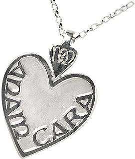 Large Sterling Silver Irish Mo ANAM Cara Pendant Necklace