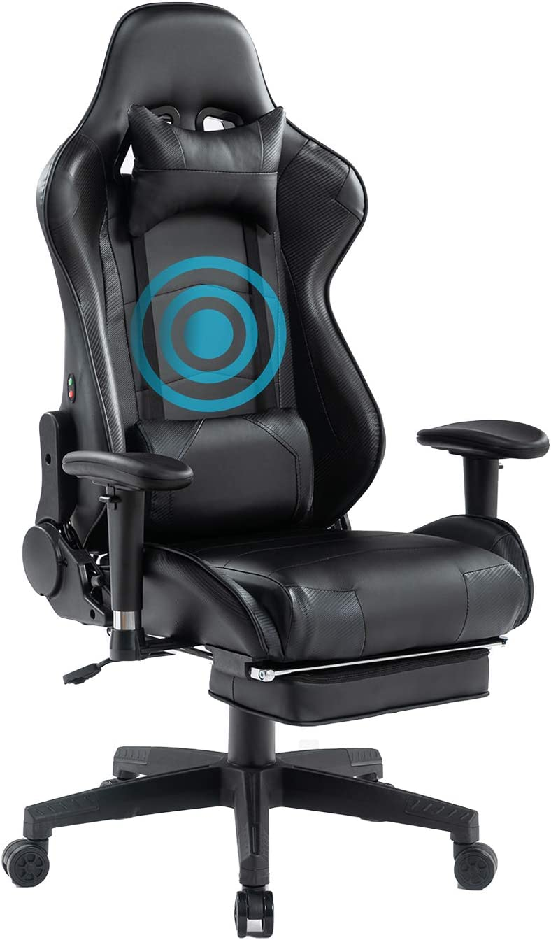 HEALGEN Back Massage Gaming Chair Vide with Footrest Computer Beauty Special price for a limited time products PC