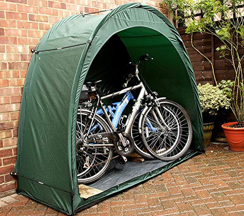 NANDAN Tente Local À Vélos Vélo De Stockage, 190T Multifonctions Vélo Tentes Extérieur Étanche Design Fenêtre Shade Sun pour Le Stockage Pêche Lutte Contre Les Insectes l'espace D'économie