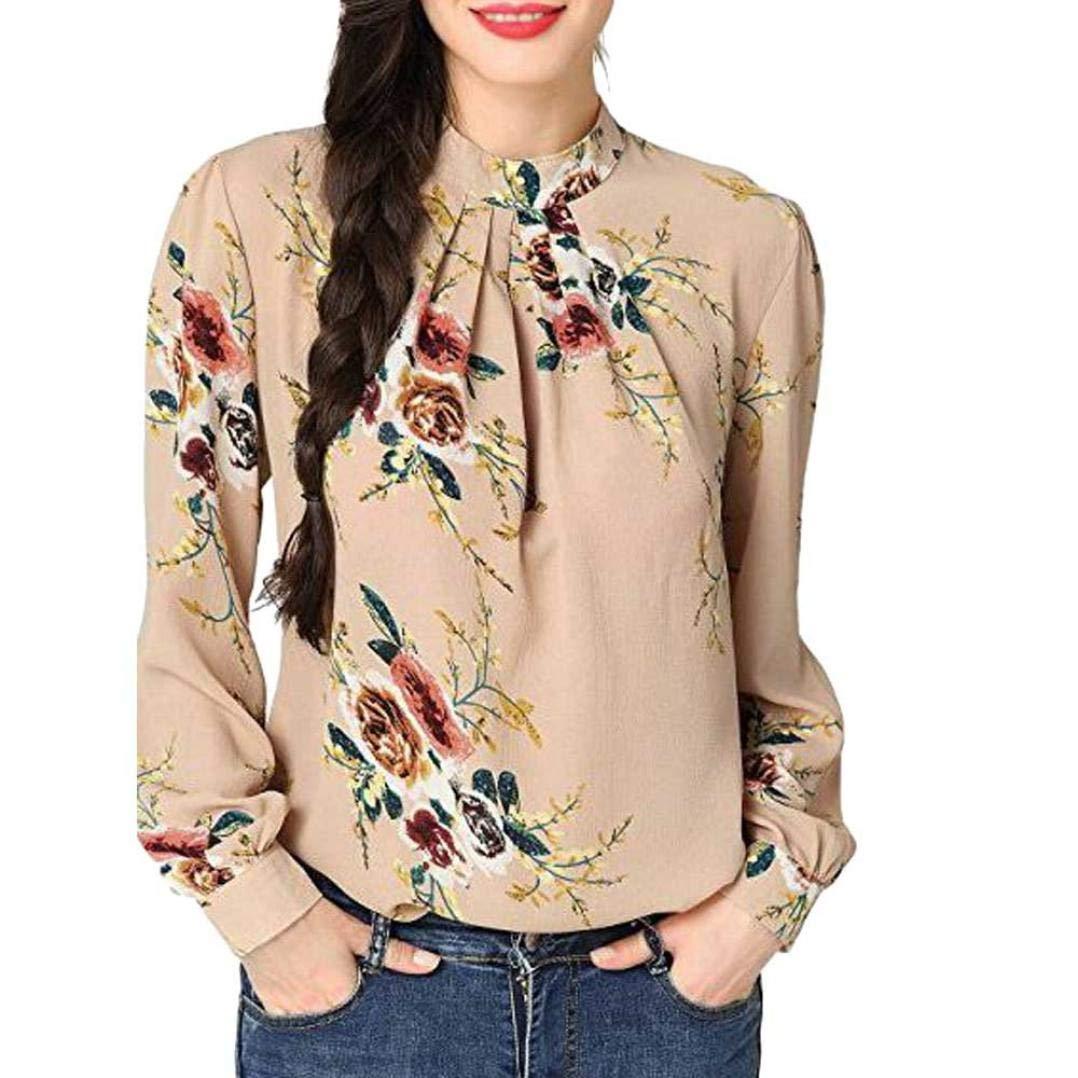 Camisa Tops mujeres, xinantime Otoño Invierno muselina de seda de mujer con estampado de flores de manga larga cuello alto camisa décontractée blusa, rojo: Amazon.es: Bricolaje y herramientas